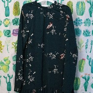 Modcloth winter green longsleeve dress M